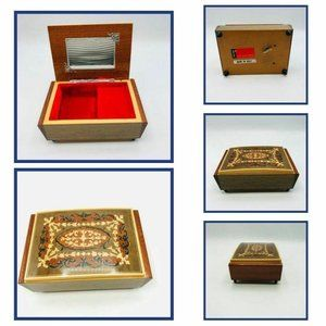 Reuge Wood Swiss Traditional Musical Box Italy